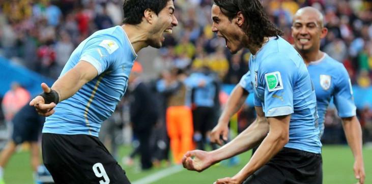 Луис Суарес и Эдинсон Кавани за сборную Уругвая